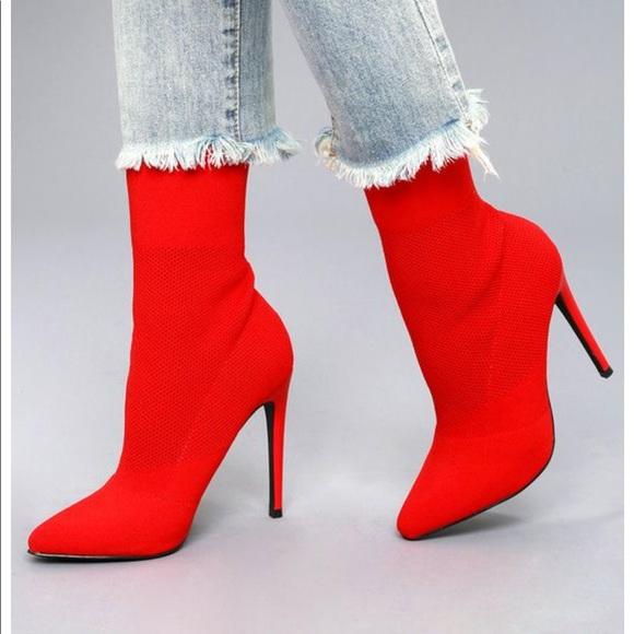 delicado lógica Kent  Steve Madden Shoes   Red Steve Madden Century Sock Booties   Poshmark